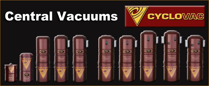 Central Vacuums by Cyclovac